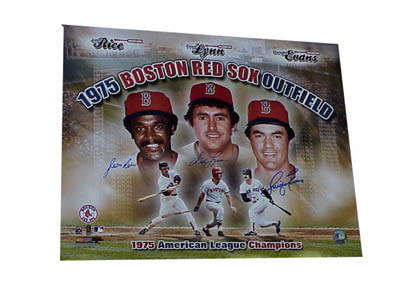 1970s Red Sox Outfield Autographed 16x20