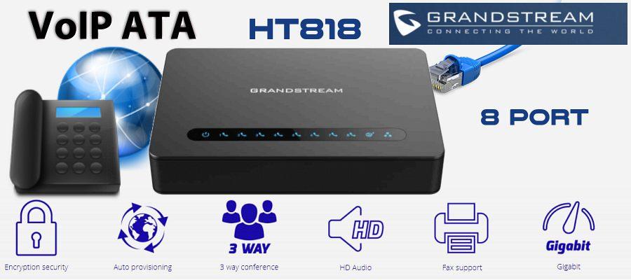grandstream ht818 ata adaptor dubai