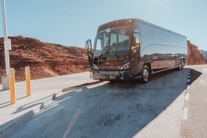 Grand Canyon bus tours run everyday with luxury buses like this from Las Vegas.