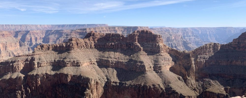 Grand Canyon West Rim is famous for views like this of Eagle Point