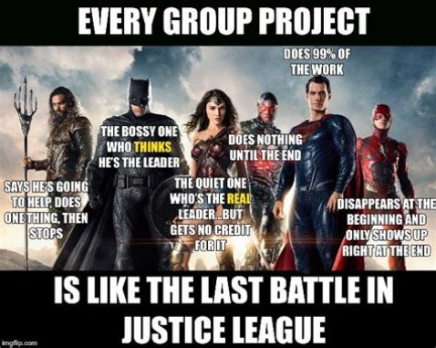 A meme about group work