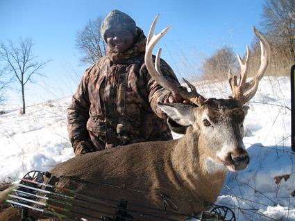 deep snow deer hunting