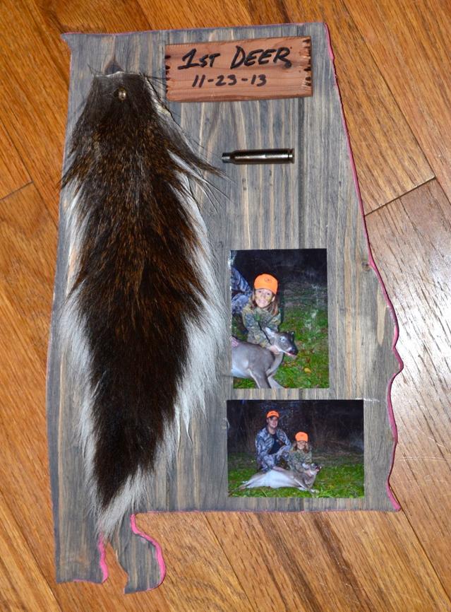 Maggie's first deer-plaque