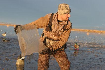 frozen water duck hunting