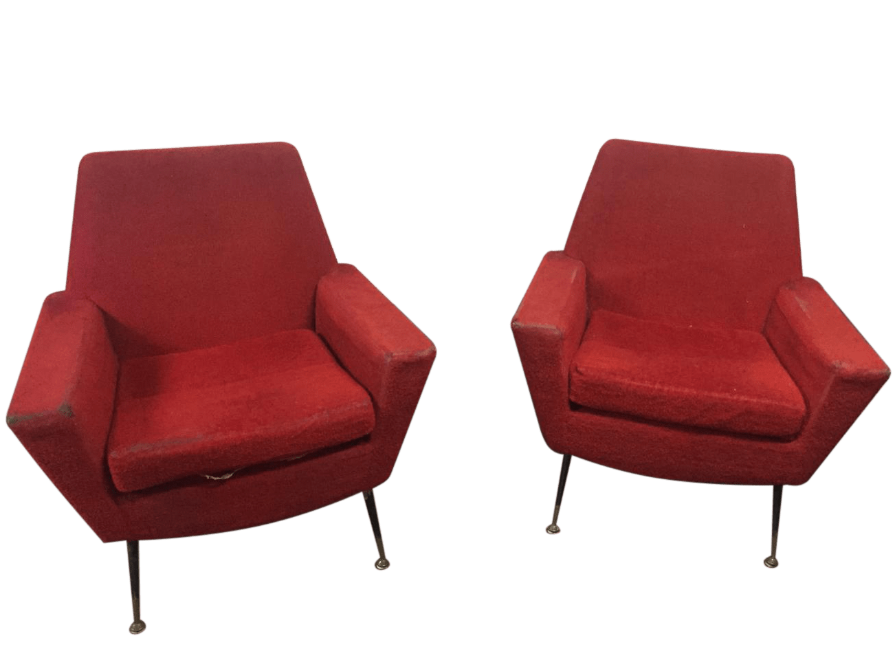 Toletta vintage design danese originale anni 60 tolstk001. Pair Of Vintage Geometric Armchairs By Fabio Lenci From The 1960s