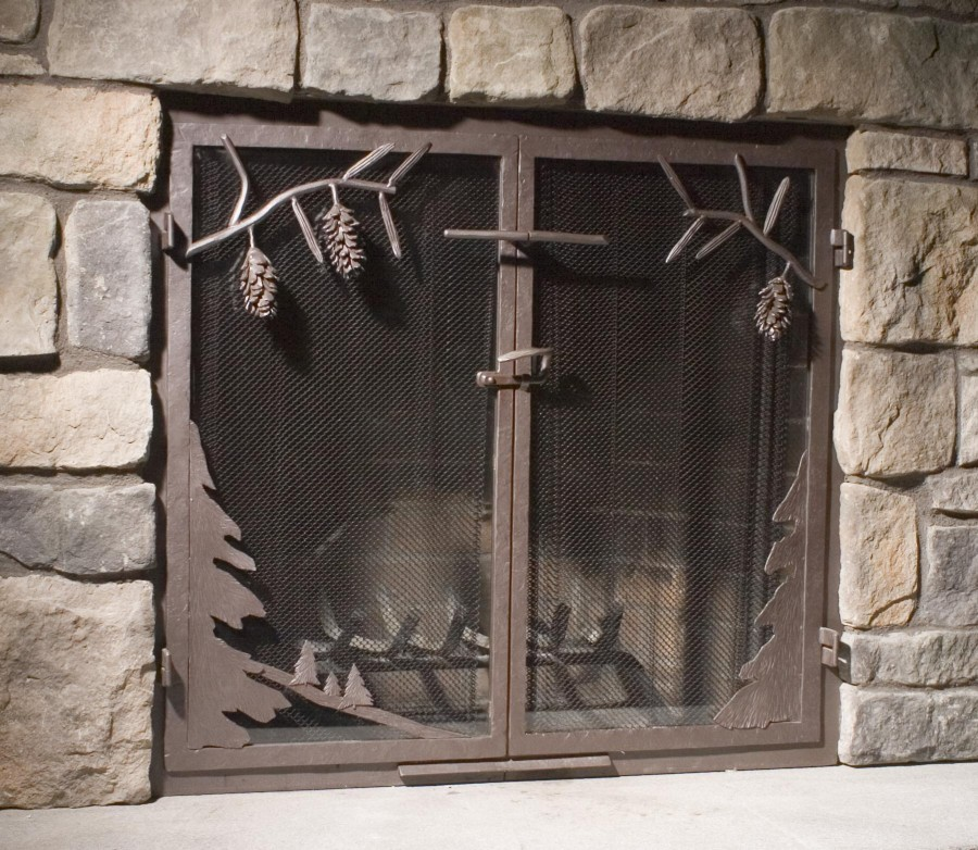 Custom Wrought Iron Fireplace Screens, Fireplace Surrounds