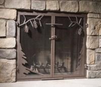 Custom Wrought Iron Fireplace Screens, Fireplace Surrounds