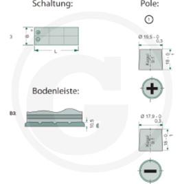 GRANIT Batterie 12 V / 135 Ah, gefüllt