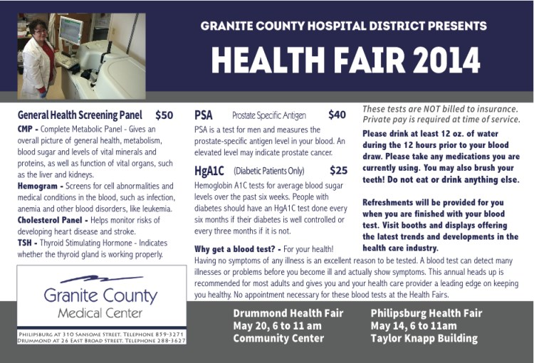 GCMF Health Fair Postcard
