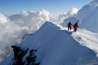 Axel Naglech and Peter Ressmann on the Monte Rosa, Italy