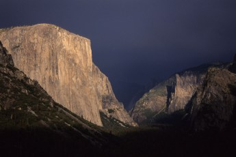 El Capitan with an approaching storm, Yosemite National Park