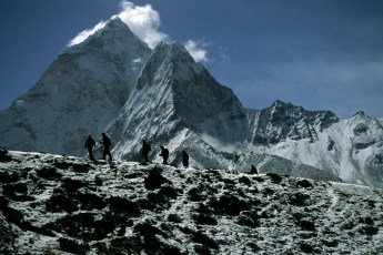 National Geographic crew on the trek into Everest Basecamp