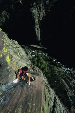 Rolando Garibotti solos The Naked Edge, Eldorado Canyon, Colorado
