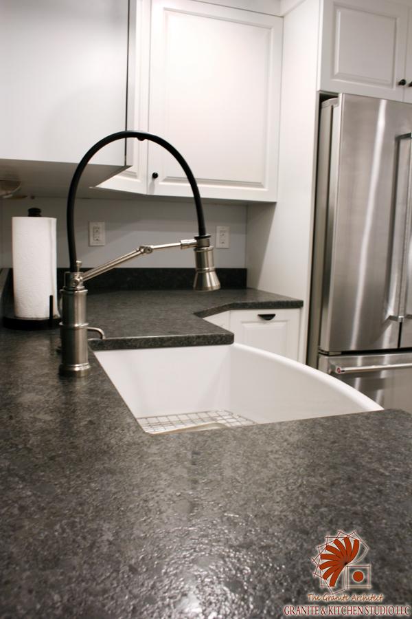 Steel Gray Leathered  Granite  Kitchen Studio