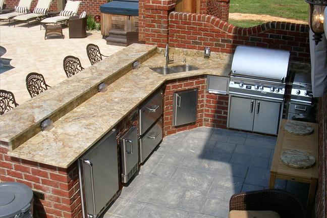 Outdoor Barbeque Area  Granite  Kitchen Studio