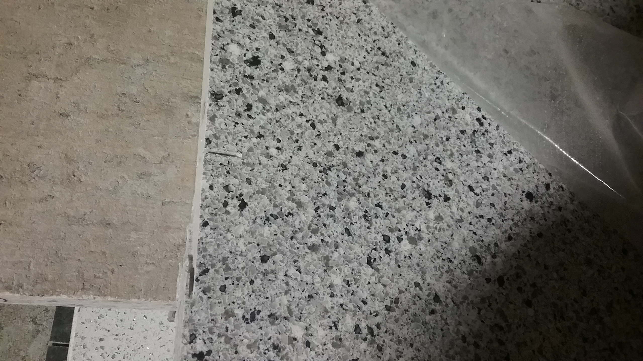 Pearl Gray Quartz By MSI 42x36 431  Granite  Kitchen Studio