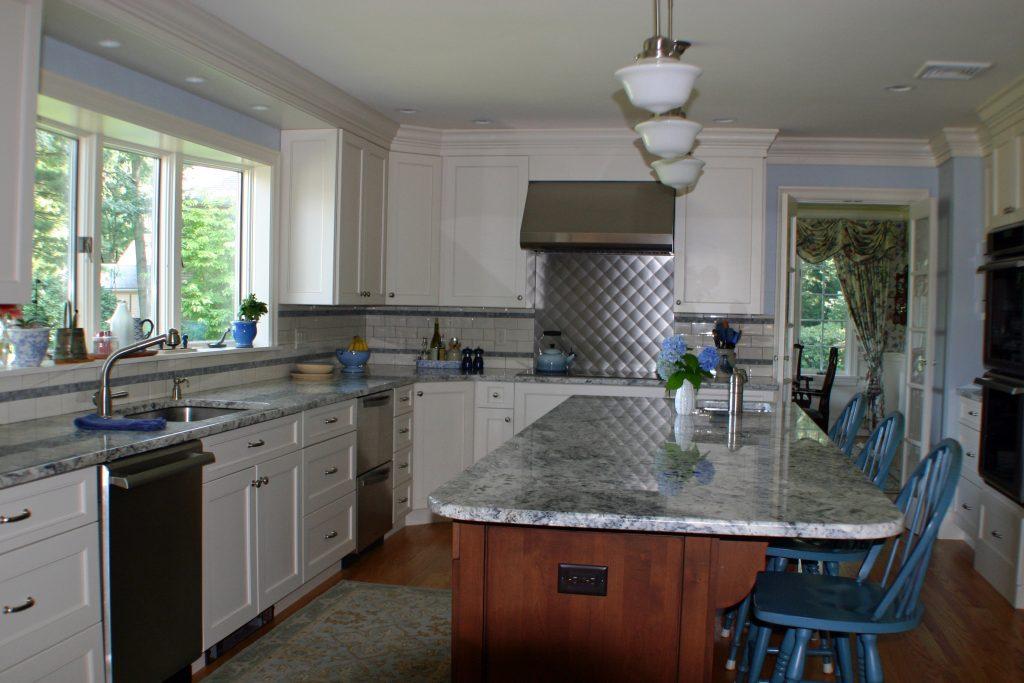 kitchen showrooms l shaped island azul aran | granite countertops seattle