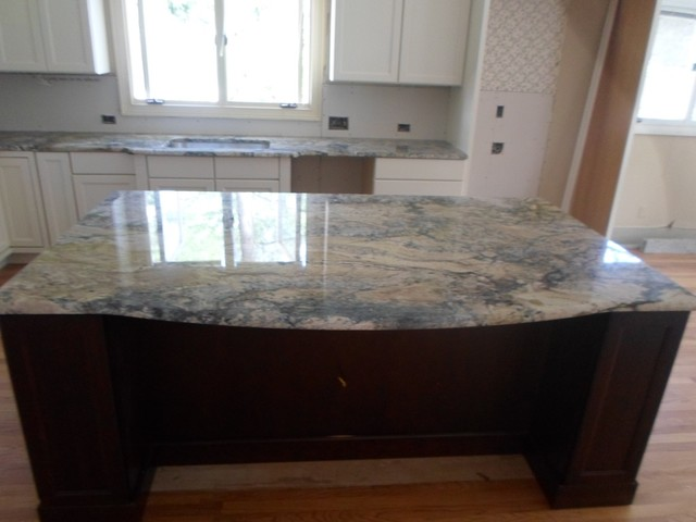 kitchen floor cabinets glass table sets azurite | granite countertops seattle