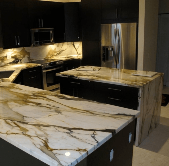 best material for kitchen countertops sink calacatta macchia vecchia | granite seattle