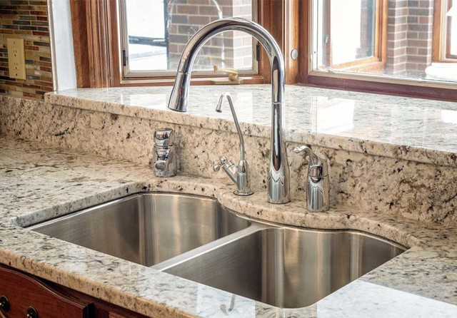 kitchen sink faucets nook seating delicatus white | granite countertops seattle