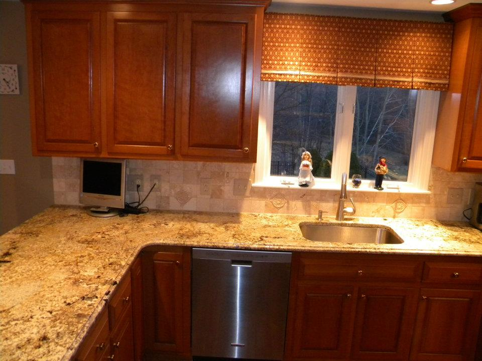 granite kitchen countertops pictures delta faucets parts namib gold | seattle