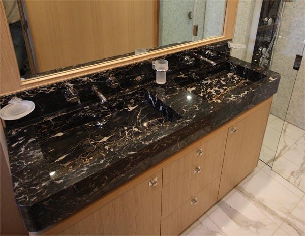 kitchen sink black granite island table with top portoro | countertops seattle