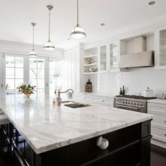 Two Tone Kitchen Island Farm House Table Fox Wa Countertop Granite Marble Quartz Tile Backsplash