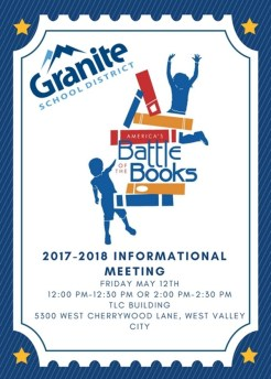 2017-2018 Battle of the Books Informational Meeting - 1