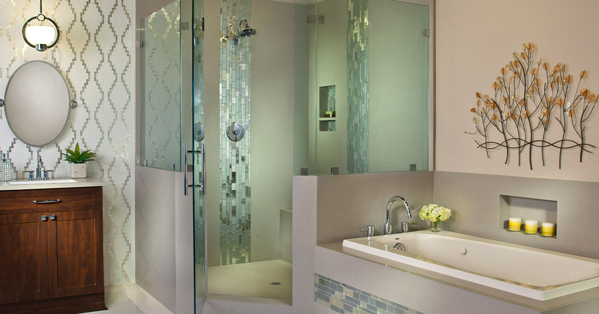 show your creativity with shower tiles