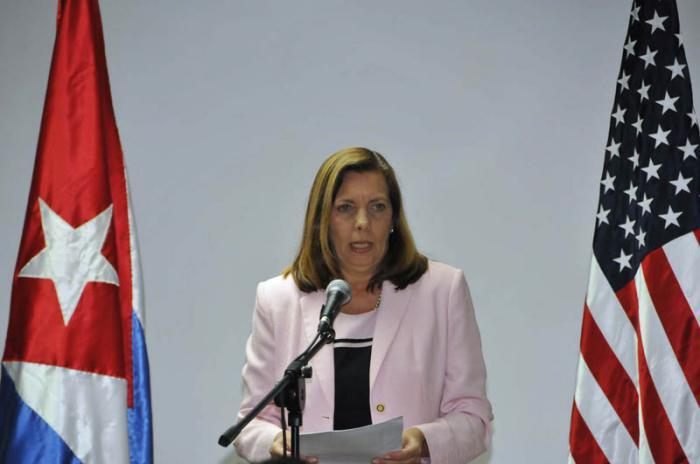 28 Ronda de Conversaciones Migratorias entre EEUU y Cuba, Josefina Vidal en conferencia de prensa.