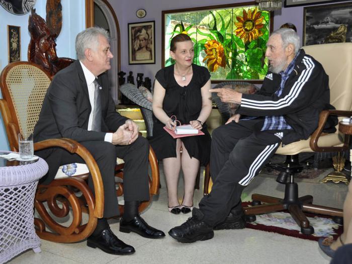 Fidel y el Presidente serbio