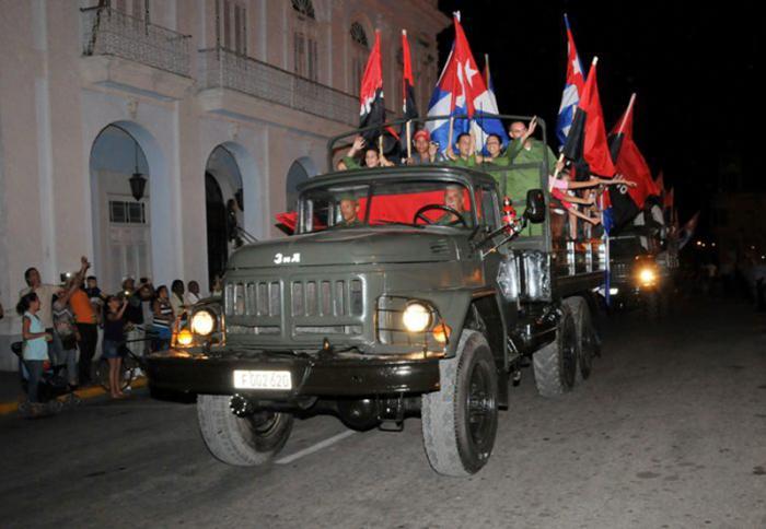 Caravana de la libertad en Cienfuegos