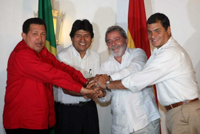 Unasur nació gracias a la visión de líderes como Hugo Chávez, Evo Morales, Luiz Inácio Lula da Silva y Rafael Correa.