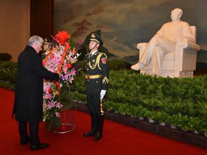 Diaz canel en China