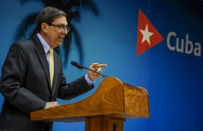 Conferencia de Prensa ofrecida por el Ministro de Relaciones Exteriores de Cuba, Bruno Rodríguez Parrilla en la sede del MINREX, con motivo de nuevas sanciones por parte del Gobierno de EUA.