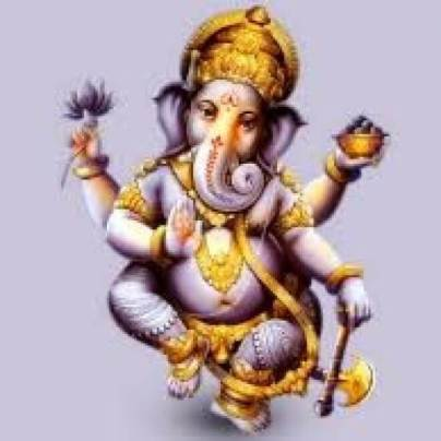 Hindu image of elephant god with axe