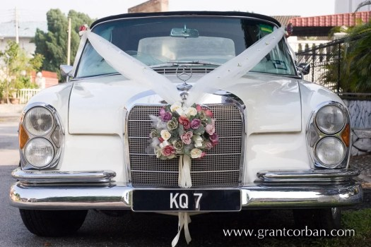 Old classic wedding car
