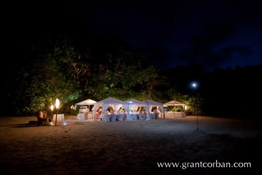 Wedding Dinner on the Beach at the Datai Langkawi