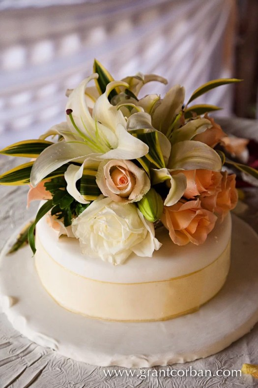 Beautiful wedding cake at the Four Seasons Langkawi