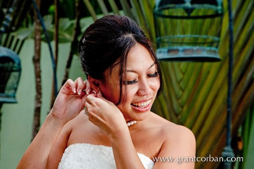 Wedding portraits at the spa in Four Seasons langkawi