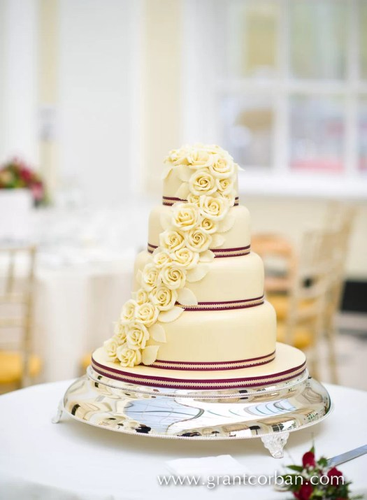 Wedding cake in the Orangery at Blenheim Palace