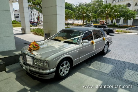 bentley outside Wedding at the Majestic Hotel Kuala Lumpur