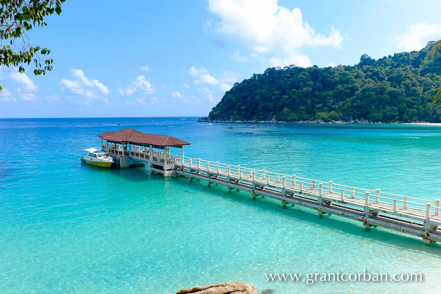 The jetty at the Perhentian Island Resort