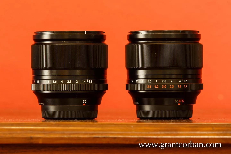 Fujifilm 55mm F1.2R and APD Comparison test