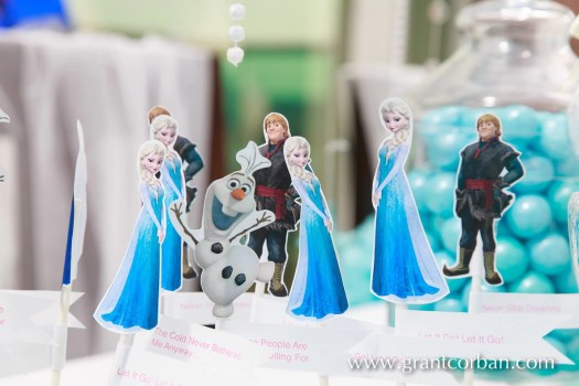 details of Frozen themed childrens birthday party