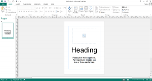 Microsoft Publisher Template