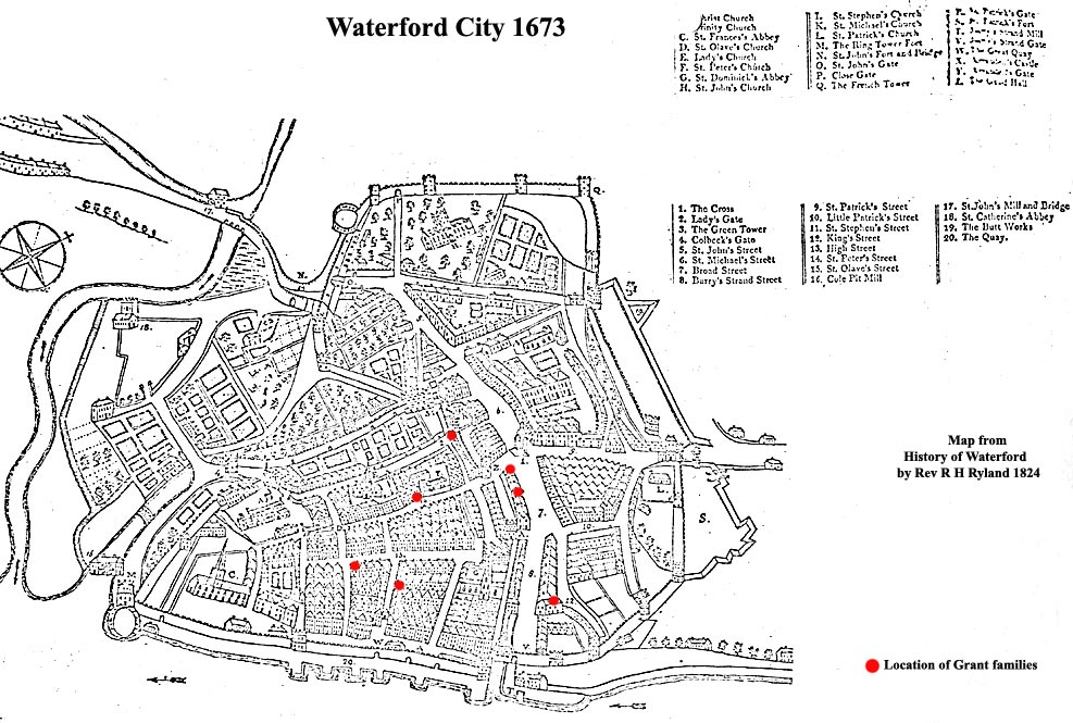 The Grants in Waterford City from 1500 to 1690