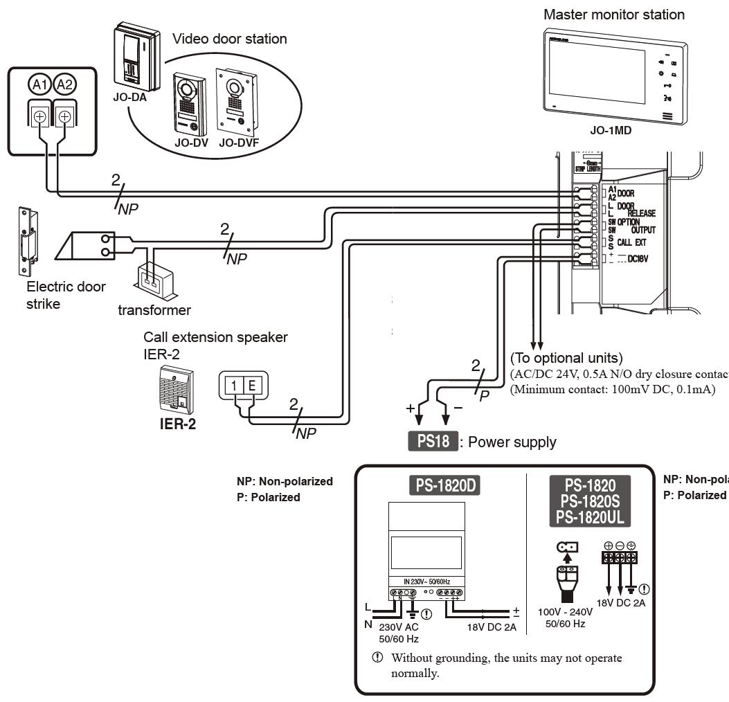 Wiring Diagram for Intercom