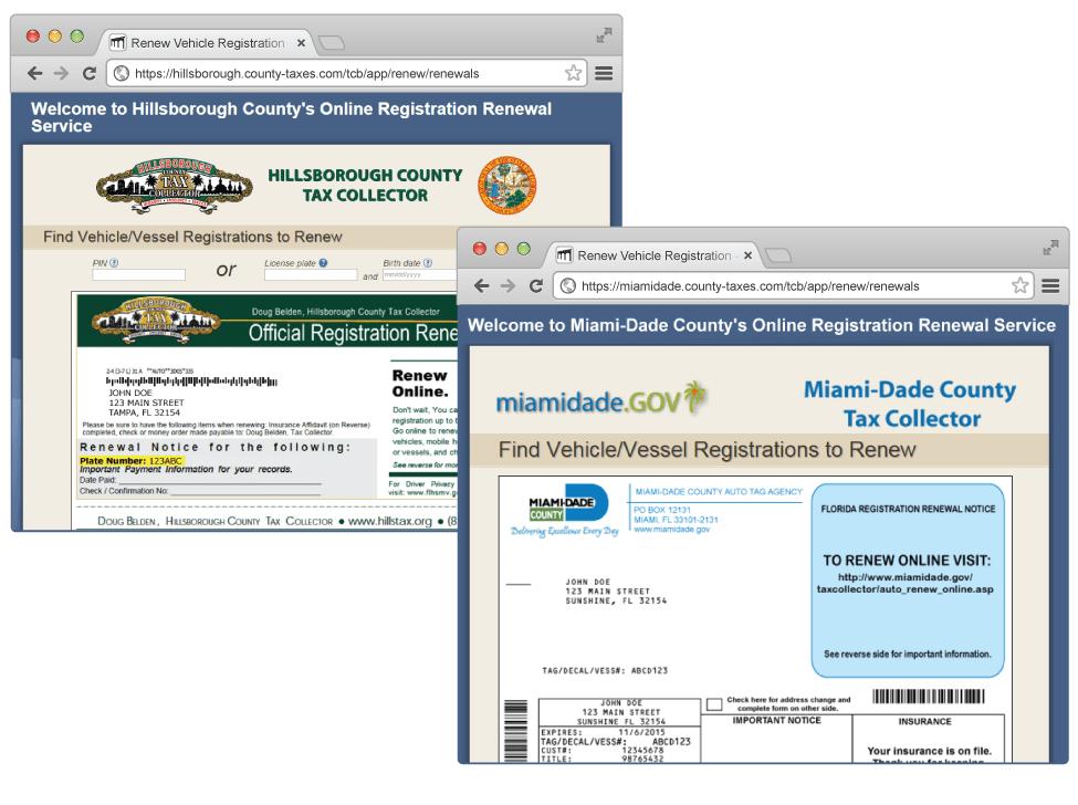 How Renew Registration Online