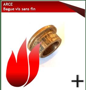 pièces arce bague vis sans fin